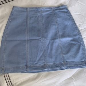 Kendall & Kylie fitted denim skirt